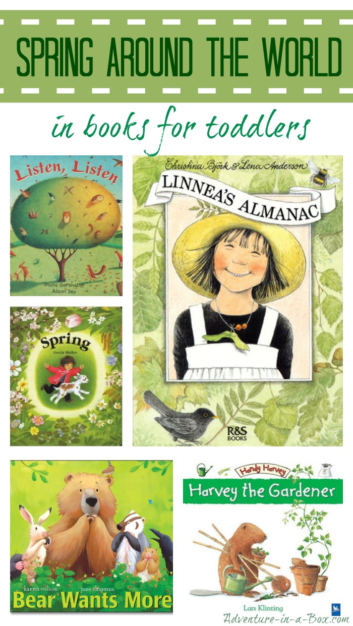 Spring Around the World in Books for Toddlers: a collection of our favourite stories to read in the spring