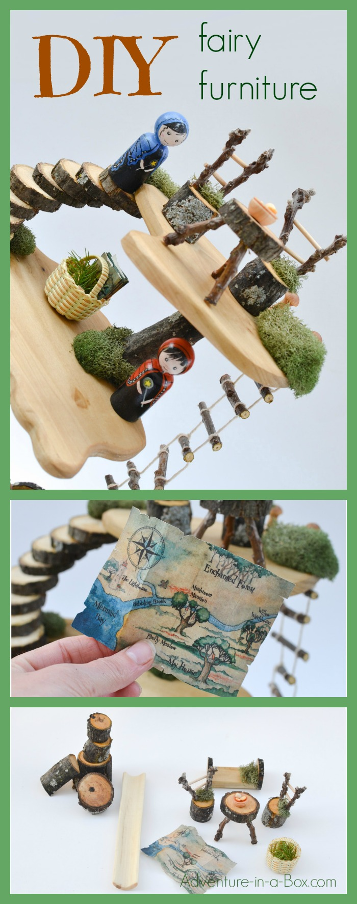 DIY Fairy Furniture: build homemade toyhouse furniture from natural ...