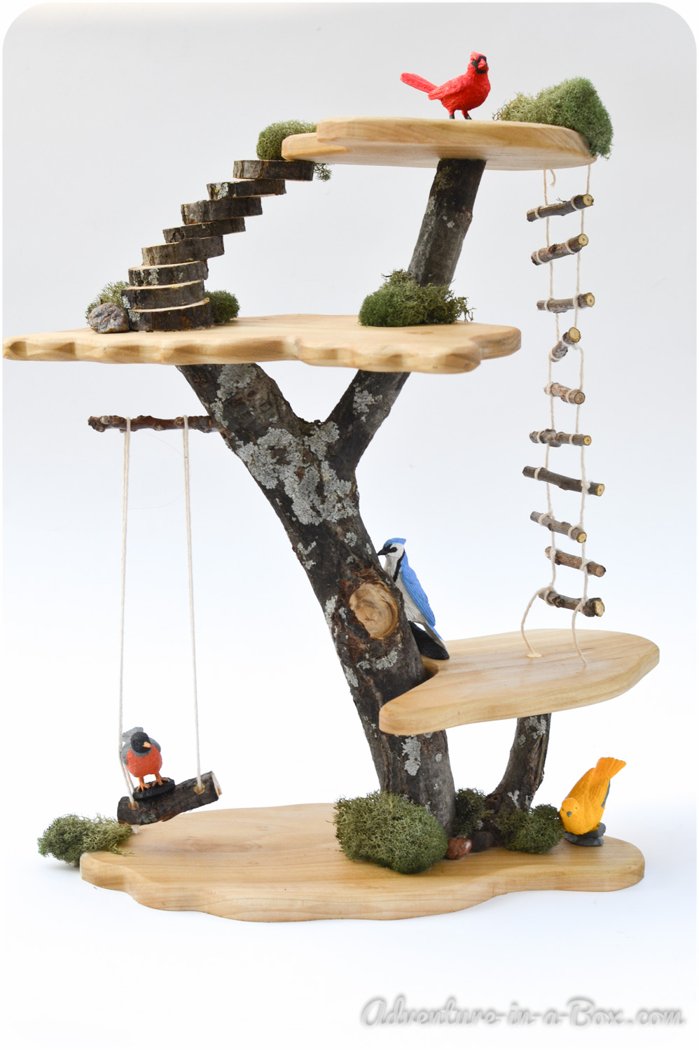 Diy Bird Toys : Diy project how to make a toy tree house