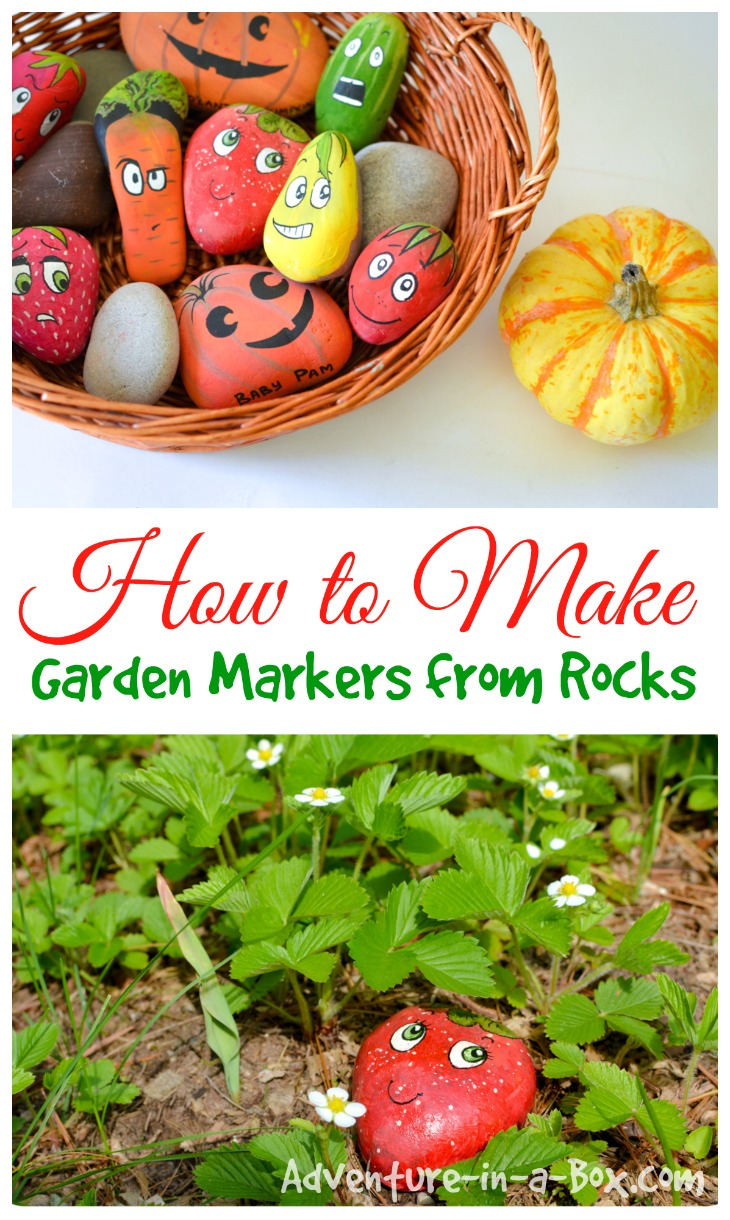 How to Make Garden Markers from Rocks: a simple, cheap and cute craft to make in preparation for gardening this spring.