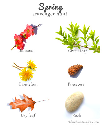 Spring Scavenger Hunt for Toddlers Pdf Template