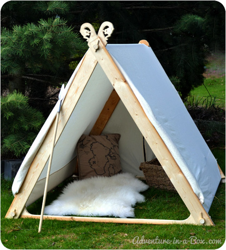 How to make a viking backyard play tent for How to create a canopy