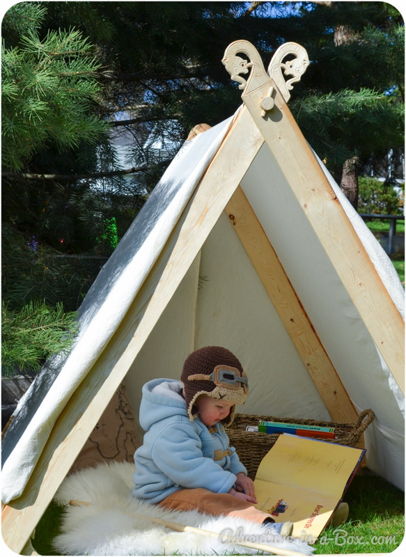 DIY Project How To make a Backyard Play Tent ... & How to Make a Viking Backyard Play Tent