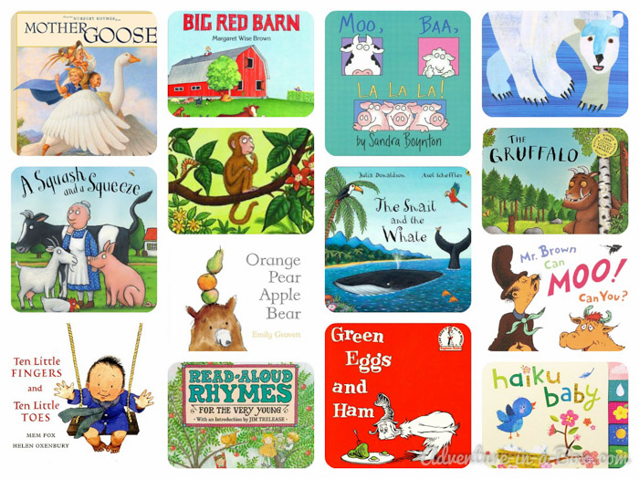 Books You Will Not Tire of Reading to a One-Year-Old || Adventure in a Box