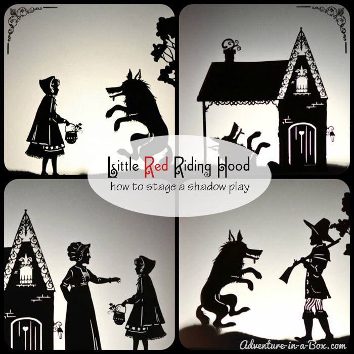 Little Red Riding Hood Puppet Show: Download, print and cut your own puppets, then stage a show together with kids for friends and relatives!