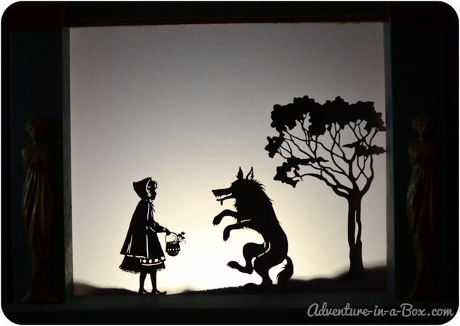Little Red Riding Hood 5 Shadow Puppets Printables