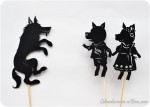 {Guest Post} Three Little Pigs: Shadow Puppet Play with Printables