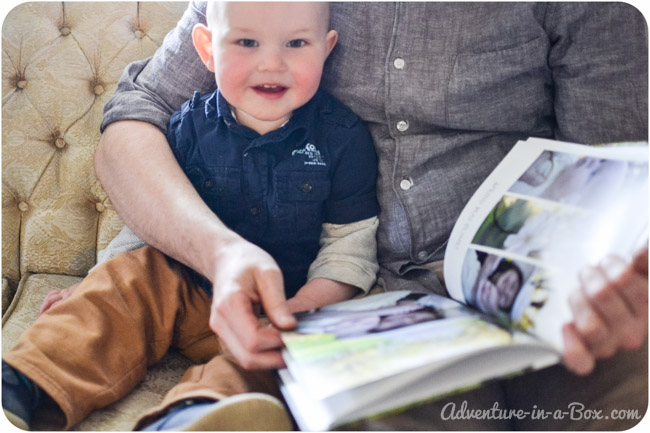 Toddler's Favourite Book: Make It Yourself    Not all of my son's favourite books are store-bought children's books - this photo book has been among his first choices to read for months    Adventure in a Box