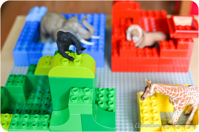 Goodnight, Gorilla: Building the Story with Lego || A fun and quick game, based on toddlers favourite book || Adventure in a Box
