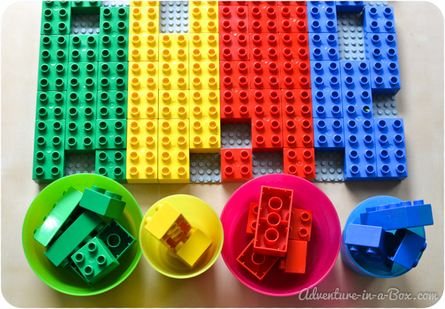 Lego Colour and Shape Sorting || Simple Sorting Game for Toddlers || Adventure in a Box