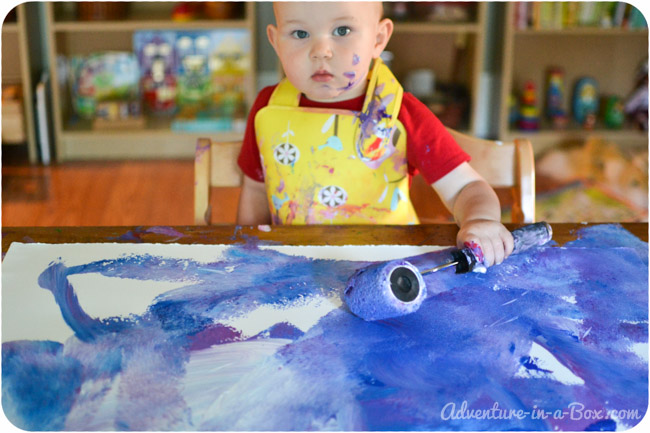 Painting Big with Toddlers