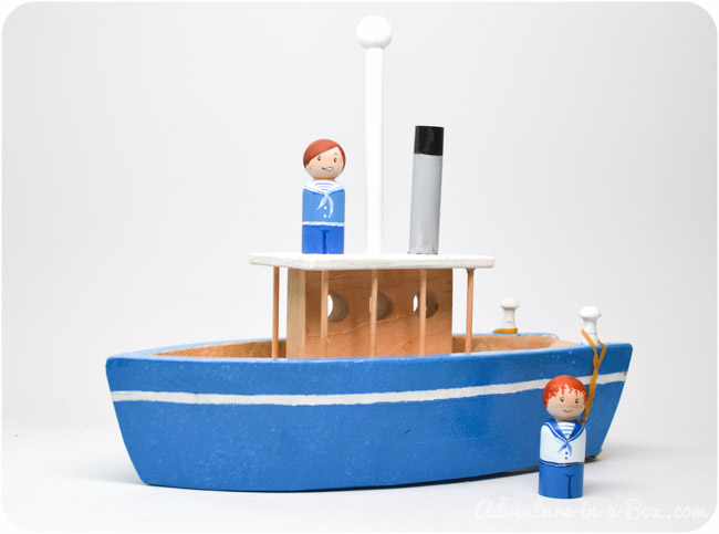 How to Make a Toy Wooden Paddle Boat