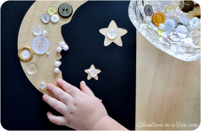 Reaching for the Moon: Make a Button Collage