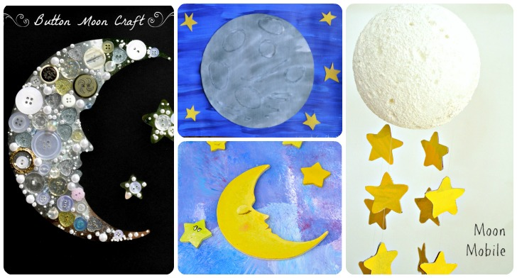moon craft ideas 20 space themed crafts with children 2505