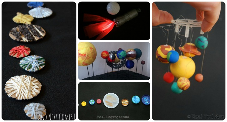 20 space themed crafts with children
