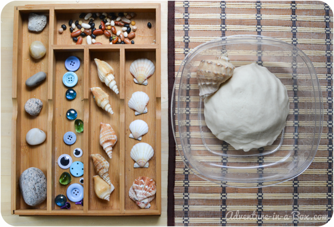 Seaside Play Dough: Making Fish, Snail and Lobster    Fun sculpting with toddlers