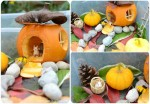 Autumn Sensory Bin: Little House in the Pumpkin
