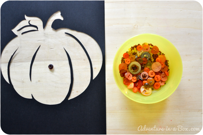 Button Pumpkin: Autumn Craft for Children