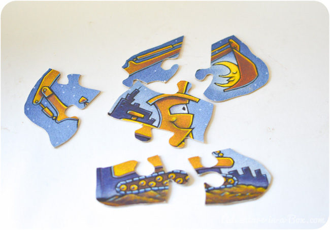 Turn a Book Dust Jacket into a Jigsaw Puzzle for Toddlers