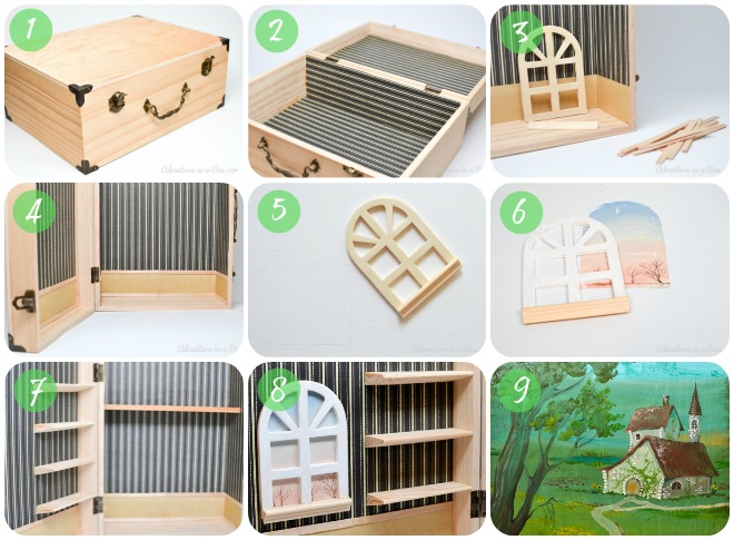 Doll House In A Box: DIY Tutorial On How To Make A Simple And Portable