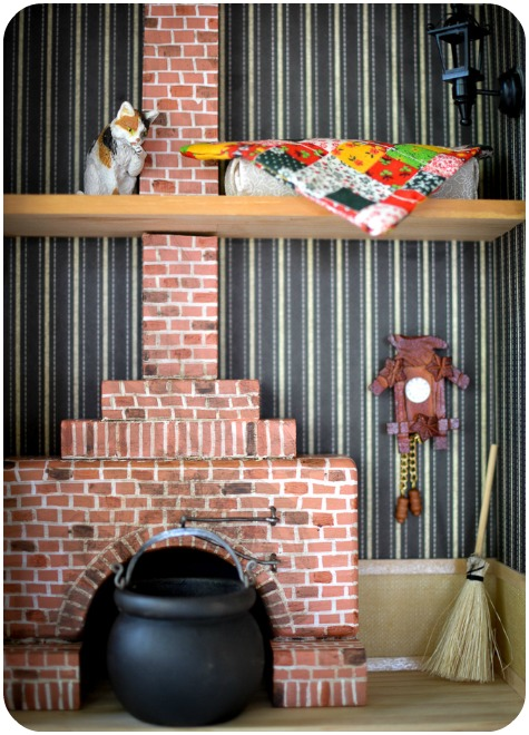 How to Make a Fireplace for a Dollhouse: DIY tutorial on how to equip your Victorian manor or a forest hut with a simple miniature fireplace made of wooden blocks