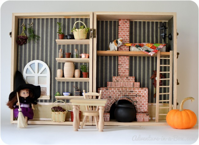 make a dollhouse in a box simple portable and fun. Black Bedroom Furniture Sets. Home Design Ideas