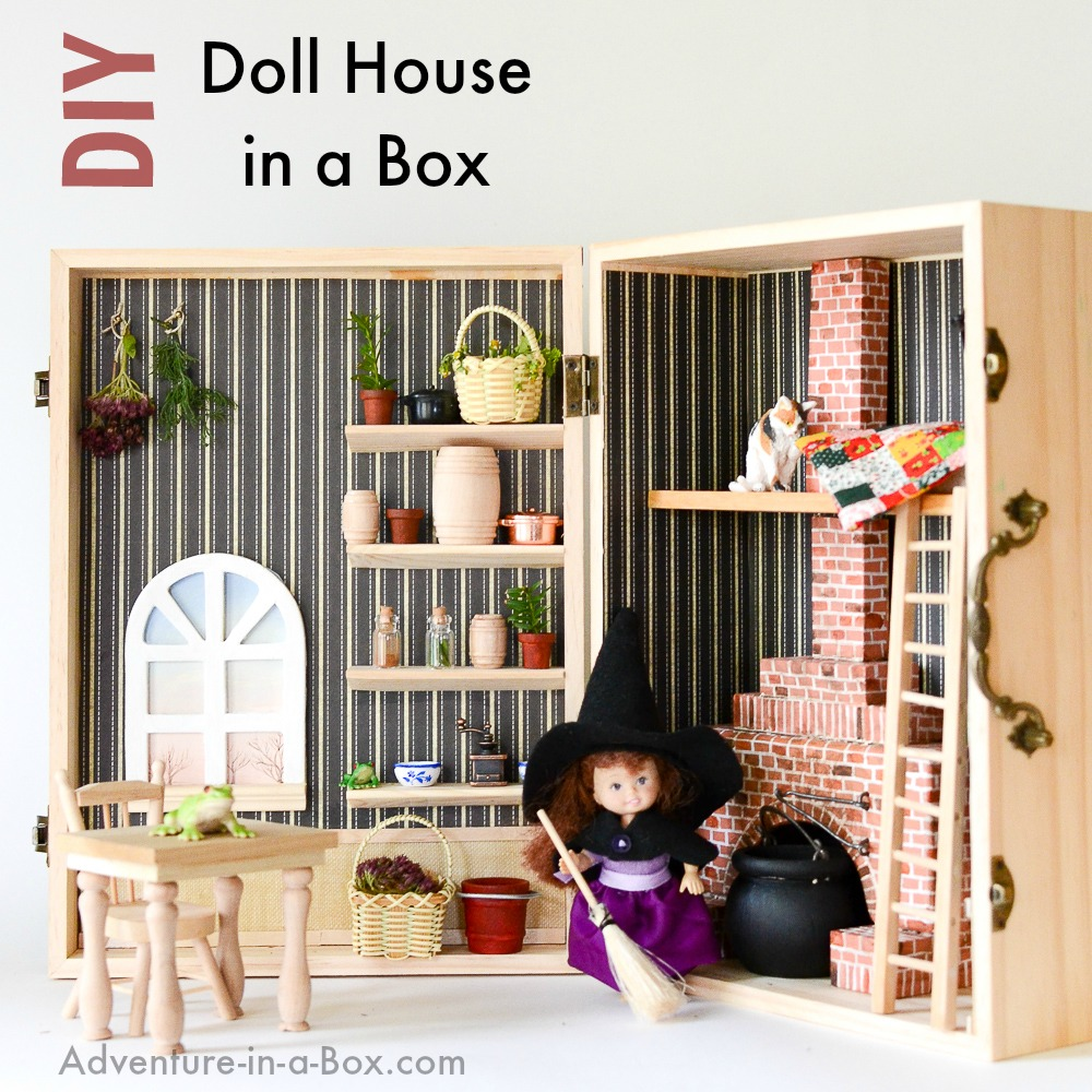 Make a dollhouse in a box simple portable and fun for Interior design in a box