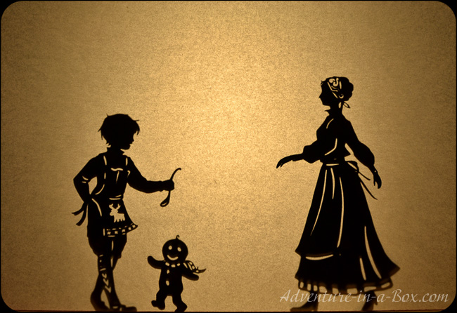 The Gingerbread Man: Christmas shadow puppets play for children (free ...