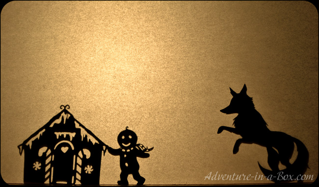 The Gingerbread Man: Get a set of shadow puppets and stage a scrumptious winter play with children. Printable shadow puppets are included!