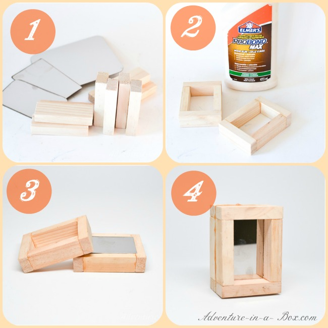 Mirror wooden blocks: DIY tutorial on how to make a simple and cheap handmade version for kids to play with