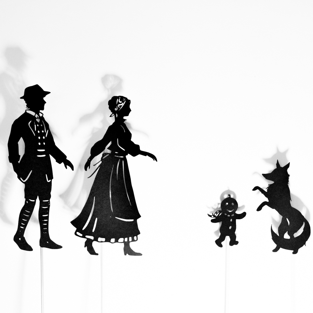 free shadow puppet templates - the gingerbread man shadow puppet printables adventure