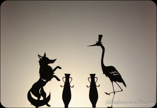 The Fox And The Crane Shadow Puppet Printables Adventure