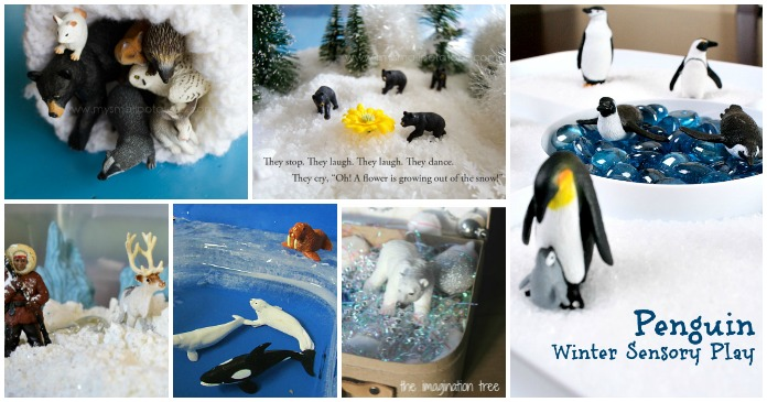 Winter Worlds in Miniature: Build a world in a sensory bin for hours of imaginative play and storytelling!