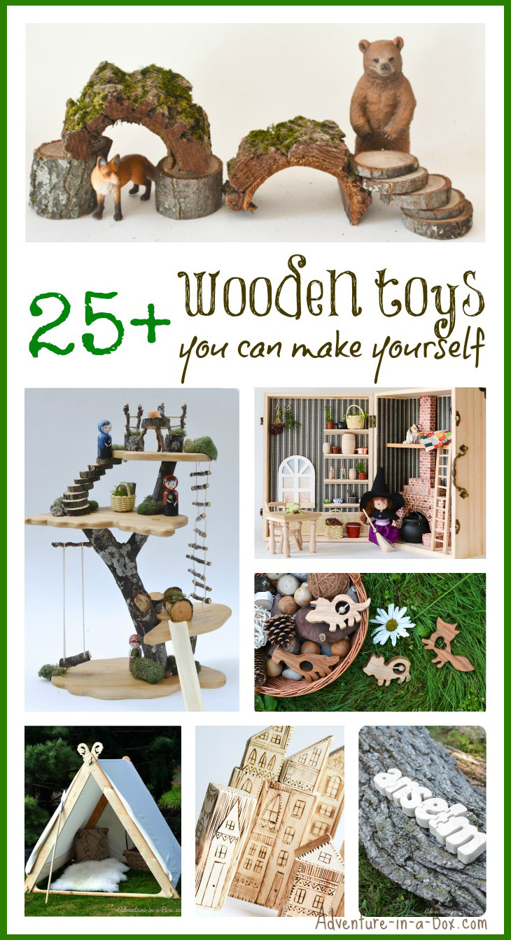 Wooden Toys You Can Make Yourself: with this collection of DIY tutorials you can make truly unique gifts for babies, toddlers and older kids