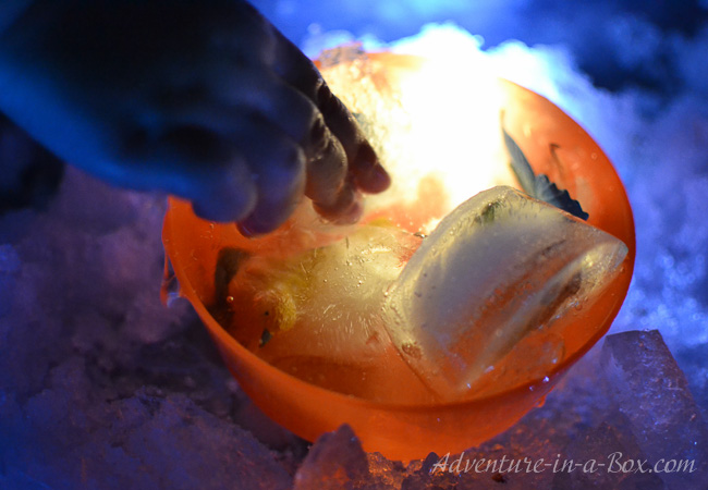 Ice Age Sensory Play: ice excavation for toddlers
