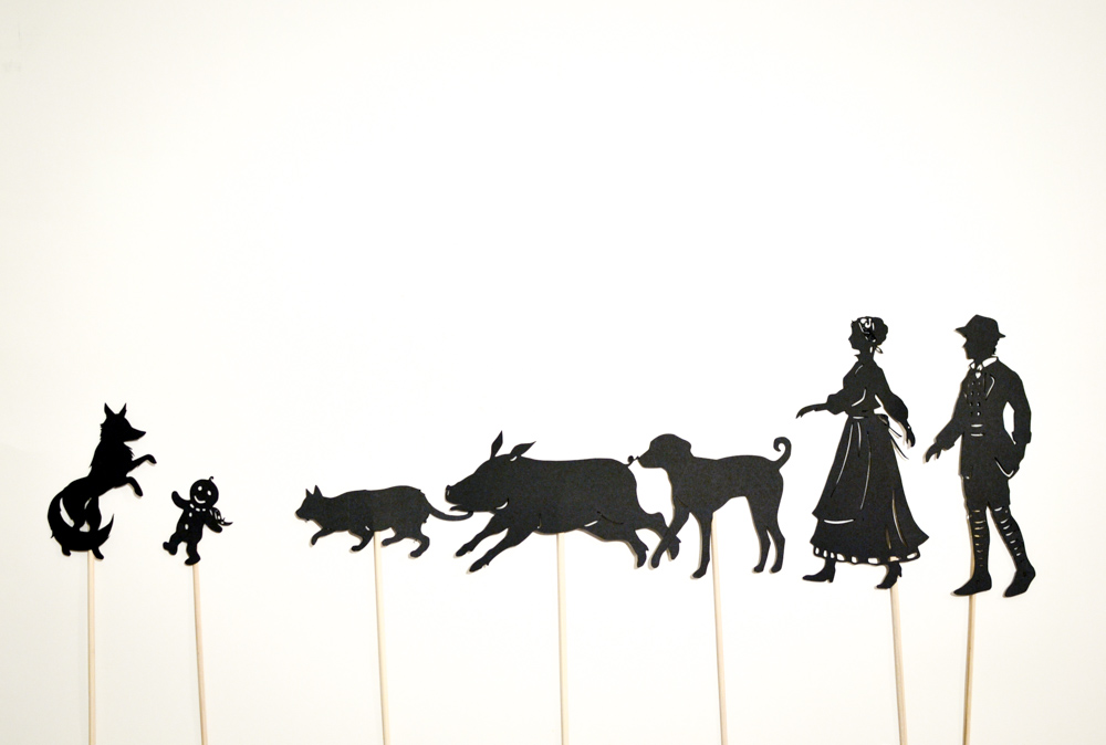 The Gingerbread Baby Shadow Puppet Set: 9 shadow puppets - Adventure ...