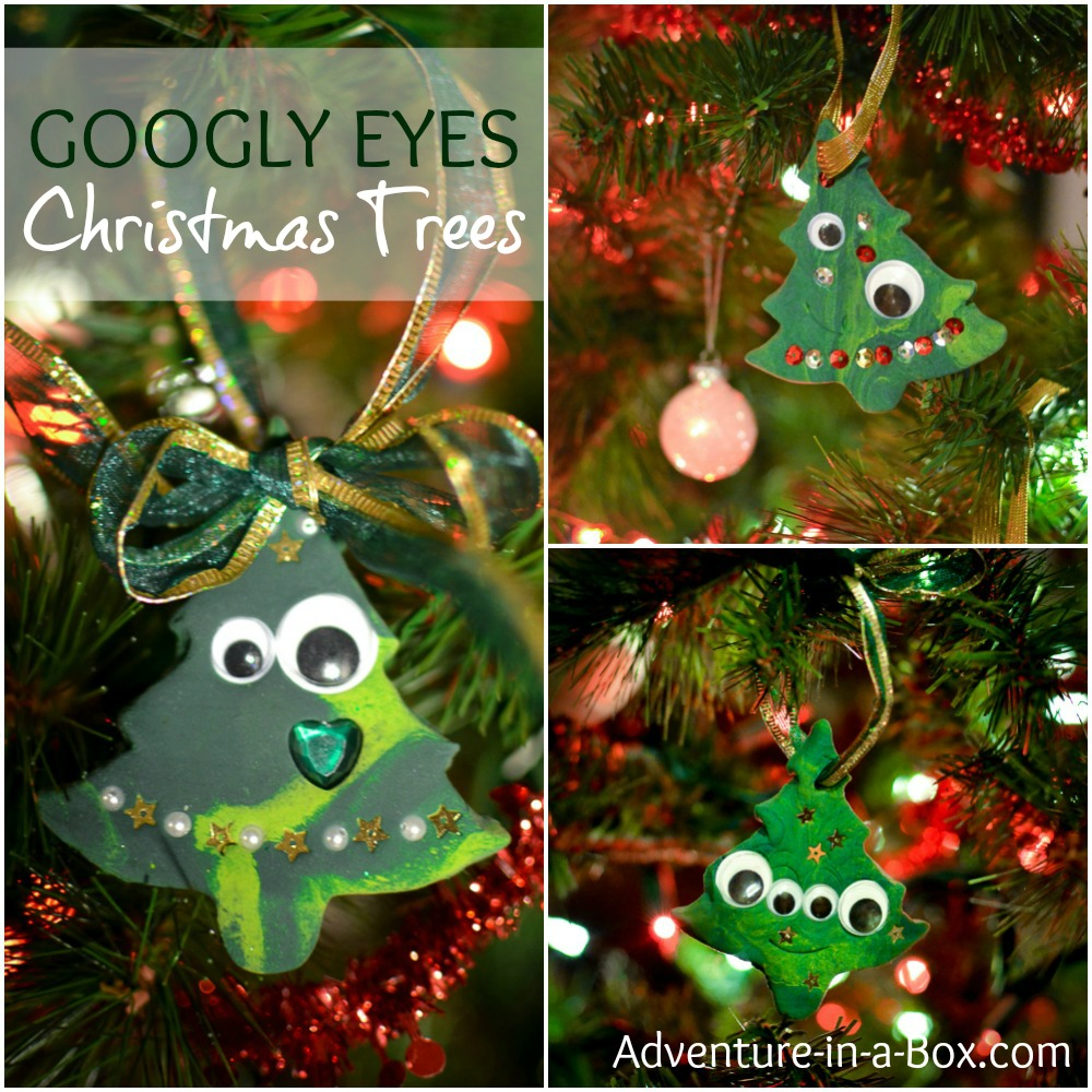 Googly Eyes Christmas Tree Clay
