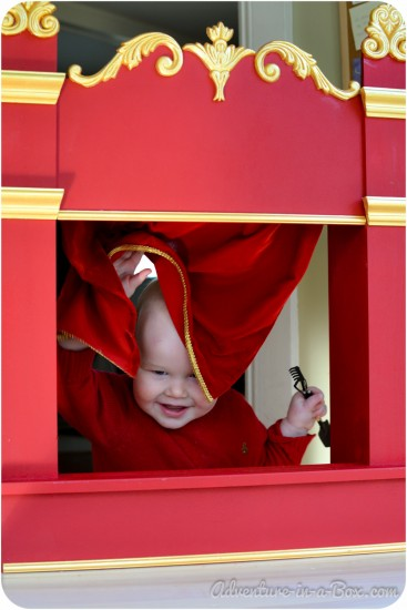 Best Toys for One-Year-Olds: Puppet theatres are great toys!