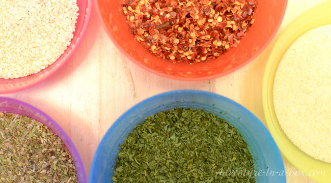 DIY Festive Spice Mix: combine an idea for a kid-made gift with fine motor practice