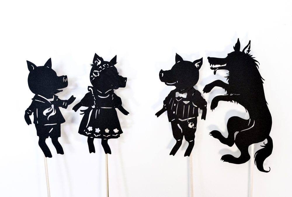 Three Little Pigs: Shadow Puppet Play with Free Printables
