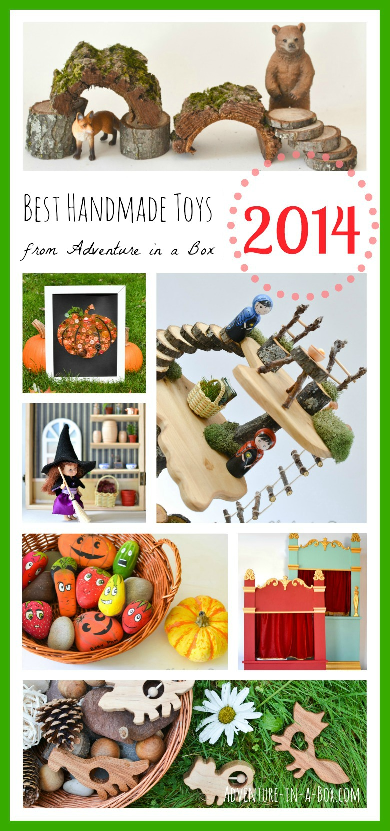Best Posts of Adventure in a Box in 2014: the selection of fun, easy and colourful diy toys and crafts for kids