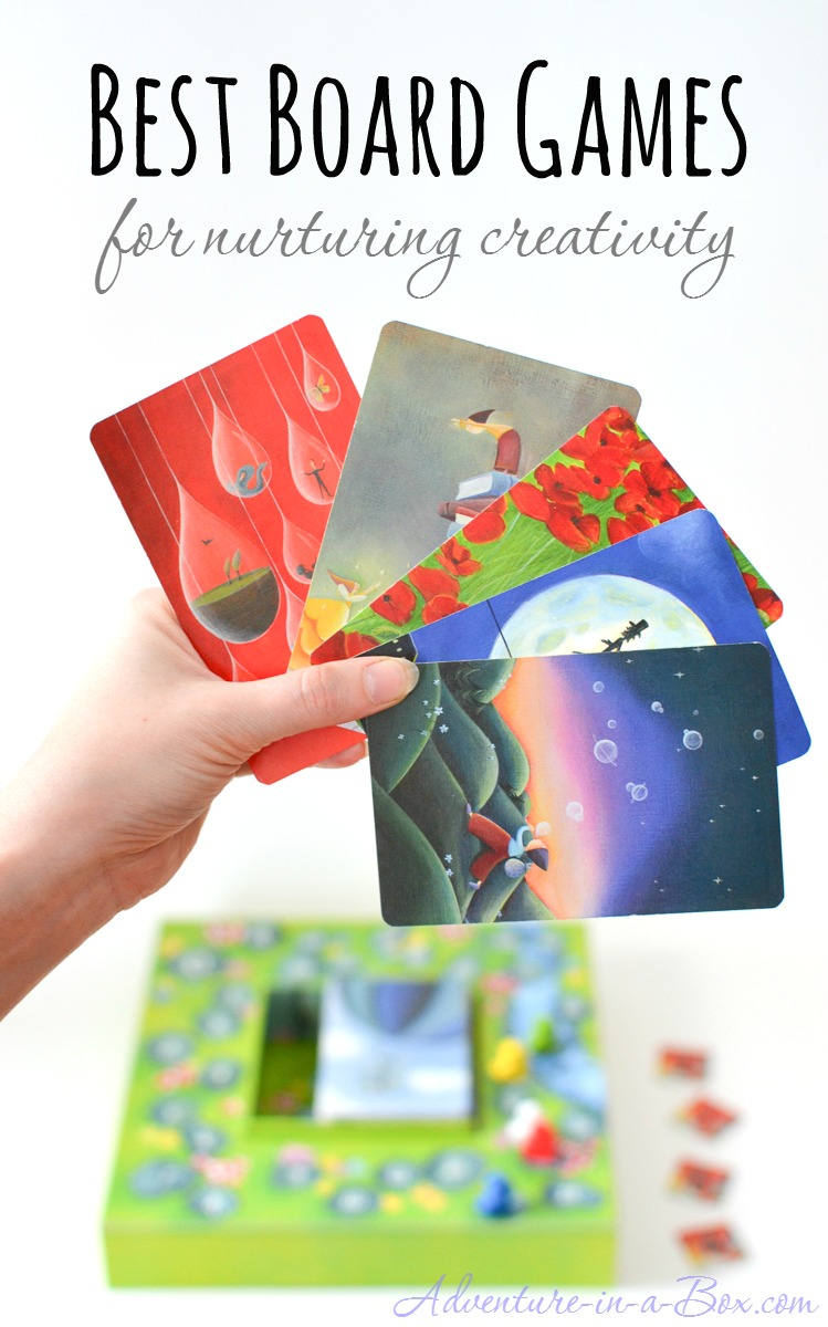 Best board games for encouraging creative thinking in kids: my top picks of games encouraging creativity, literacy, storytelling skills and verbal fluency in kids that are also fun for adults to play!