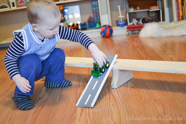 How to Make a Balance Bench: a diy tutorial on how to turn a board into an exercise equipment and a gross motor development toy for toddlers and older kids