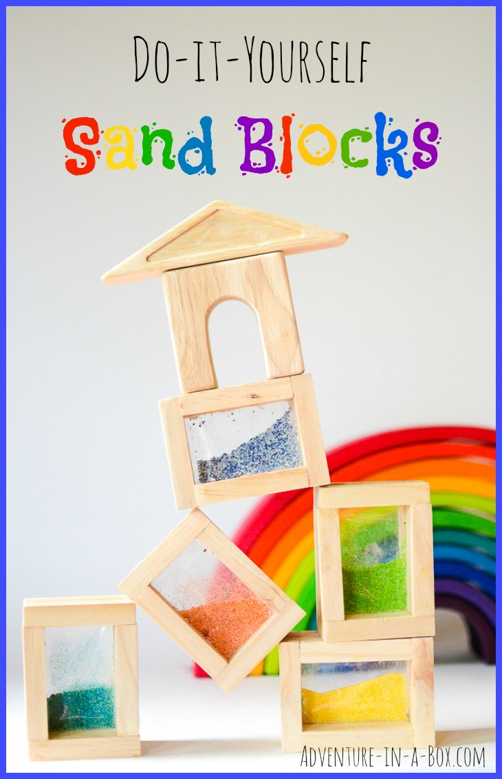 Rainbow Sand Blocks: With this DIY tutorial, you can easily build a set of handmade sand blocks for kids. A perfect addition to Reggio Inspired and Waldorf playrooms!