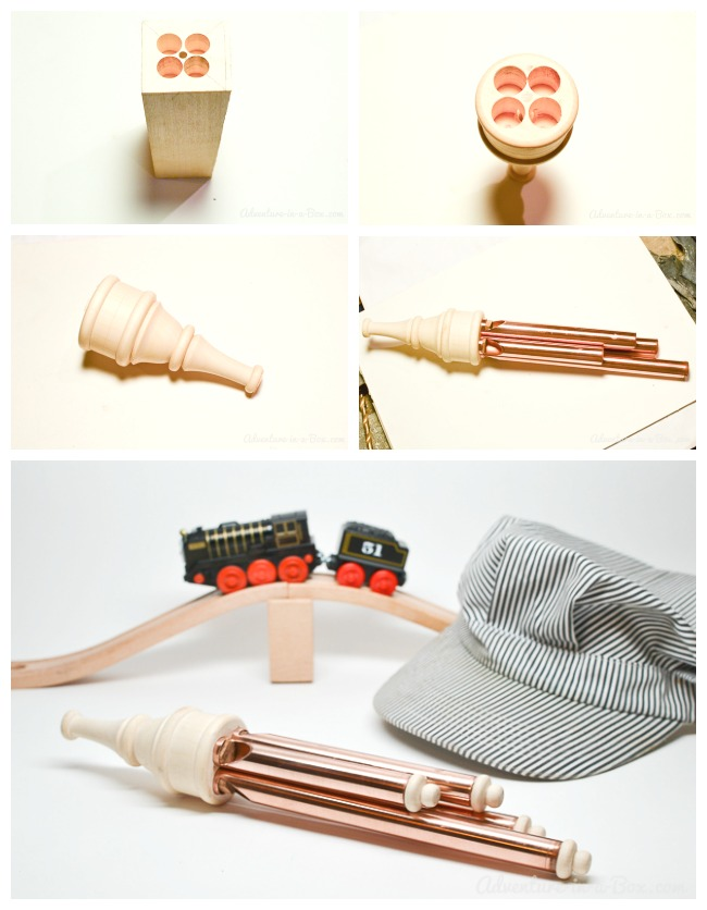 Make a toy train whistle for your train lover: a fun DIY toy project that will delight kids!