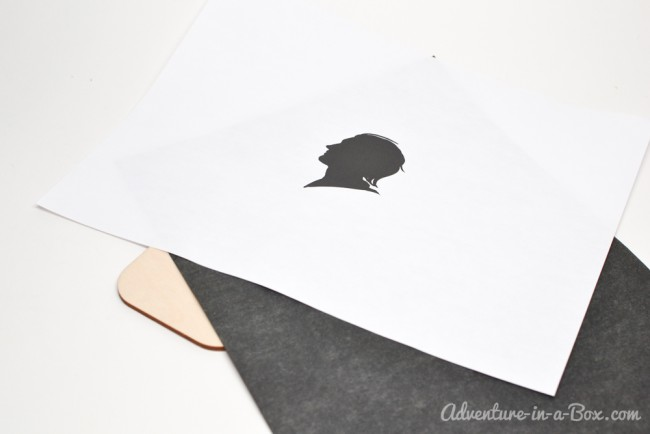 Make a Set of Personalized Coasters: DIY craft tutorial on how to decorate plain wooden cutouts with Victorian-inspired silhouettes of your family members