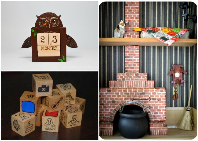 20 Ways to Reuse Wooden Blocks: Do you have old wooden blocks that could use a makeover? Here are 20 creative ideas for handmade toys you can build for kids from your blocks. No tools are necessary!