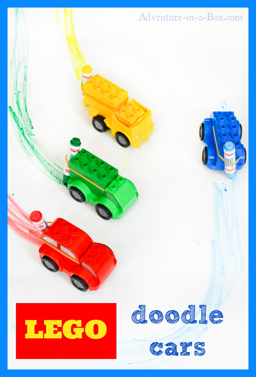 Turn Lego Cars into Doodle Cars: A simple project that young engineers will love. Kids can create whimsical art, then have a colourful race!