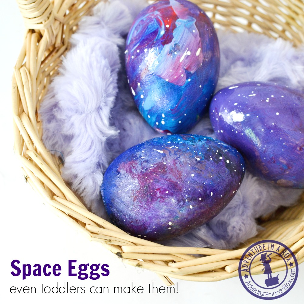 Space Eggs: an otherworldly Easter craft that even toddlers can make!
