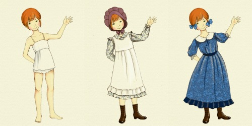 Pioneer Dress-up Doll: Printable Inspired by Little House on the Prairie